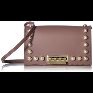 Zac Posen Earthette Leather Pearl Crossbody Bag